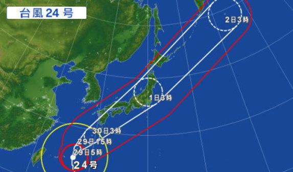 台風24号に備えて、、、