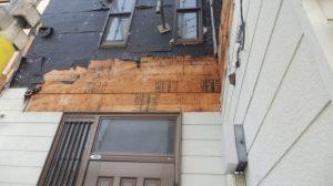玄関前の庇解体