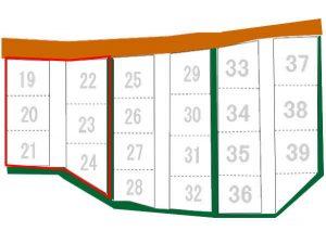 ゆずの里オートキャンプ場サイト図
